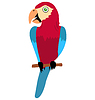 Vector clipart: Funny parrot