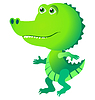Vector clipart: Funny crocodile