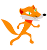 Vector clipart: Funny fox
