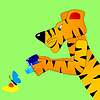 Vector clipart: Tiger makes snapshot