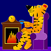 Vector clipart: Tiger rests