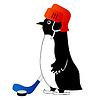 Vektor Cliparts: Lustige Pinguin