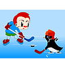Vector clipart: Children hockey