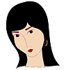 Vector clipart: Asian girl