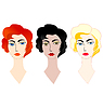Vector clipart: fashion ladies