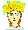 Vector clipart: ukranian girl