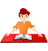 Vector clipart: reading boy