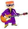 Vektor Cliparts: Rockmusiker