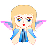 Vector clipart: little angel