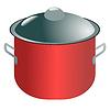 Vector clipart: Modern saucepan