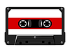 Vector clipart: Audio cassette