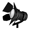 Vector clipart: black spotlight