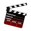 Vector clipart: Movie clapper board
