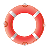 Vector clipart: Red life buoy