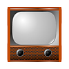 Vector clipart: old tv set