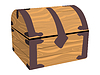 Vector clipart: wooden chest