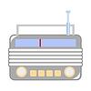 Vector clipart: Vintage radio