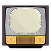 Vector clipart: Old TV