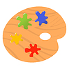 Vector clipart: Artistic palette