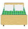 Vector clipart: Bed