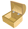 Vector clipart: Open wooden chest