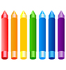 Vector clipart: set of colored crayons