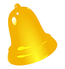 Vector clipart: golden bell
