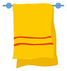 Vector clipart: Towel on hanger