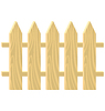 Vector clipart: wooden fence