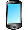 Vektor Cliparts: Berühren Smartphone