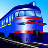Vector clipart: Electric train
