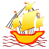 Vector clipart: Little ship
