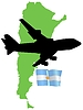Vector clipart: fly me to Argentina