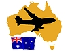 Vector clipart: fly me to Australia