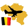 Vector clipart: fly me to Belgium