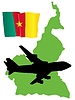 Vector clipart: fly me to Cameroon