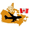 Vector clipart: fly me to Canada
