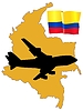 Vector clipart: fly me to Colombia