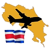Vector clipart: fly me to Costa Rica