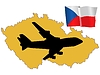 Vector clipart: fly me to Czech Republic