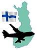 Vector clipart: fly me to Finland