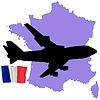Vector clipart: fly me to France