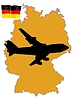 Vector clipart: flight to Germany