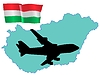 Vector clipart: fly me to Hungary