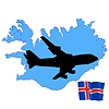 Vector clipart: fly me to Iceland