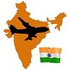Vector clipart: fly me to India