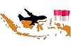 Vector clipart: fly me to Indonesia