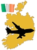 Vector clipart: fly me to Ireland