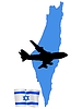 Vector clipart: fly me to Israel