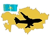 Vector clipart: fly me to Kazakhstan